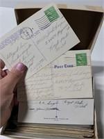 Approximately 300 vintage postcards