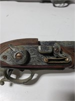 Two vintage replica Flintlock pistols