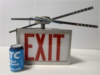 """Old salvaged """"EXIT"""" sign"""