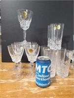 Service for 8 Cristal d'arques glasses