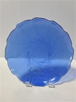 Blue glass plate