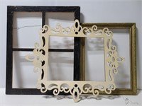 Wood frames & stencil for crafting and decor