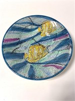 Antica Fornace mosaic print fish gruit bowl