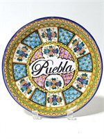 Puebla Reao pottery plate from Mexico