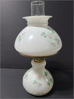Milk glass oil lamp