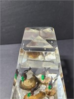 Large Lucite duck paperweight
