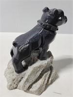 Mack carved bulldog statue