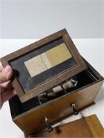 Vintage Kodak film tank box w/ contents