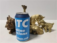 Five brass animals
