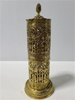 Ornate metal tube piece