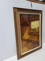 Framed room with a window painting