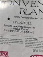 Conventional twin/full blanket