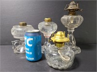 Old glass pil lamp parts