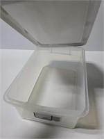 Sterilite 15qt clear view storage bin with lid