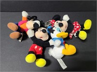 Disney character plush figure keychains