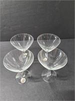 Set of 4 glass sherry glasses