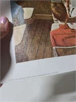Two Norman Rockwell canvas prints