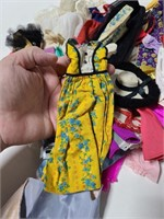 Vintage Barbie doll clothes and shoes
