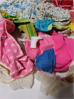 Assorted baby doll clothes