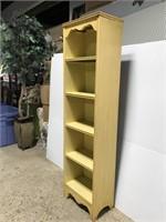Old vintage narrow wooden shelf