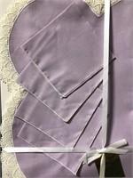 Vintage Kaye Walt lilac purple tea linen set