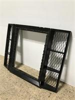 Black vintage art frame wall shelf