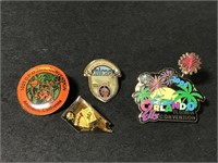 Collection of Elks Club lapel pins
