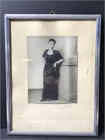 Framed vintage mysterious woman photograph