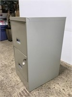 Metal 2-drawer file cabinet w/ keys