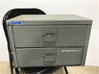 Industrial Adrian Steel 2-drawer parts storage