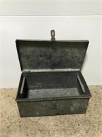 Old galvanized metal toolbox