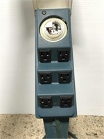 Outdoor power outlet on stake