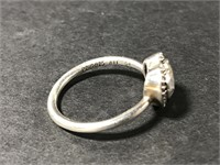 Sterling silver heart ring - stamped size 7