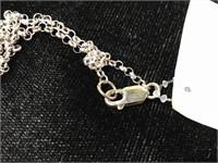 Sterling silver spirit bear totem pendant necklace