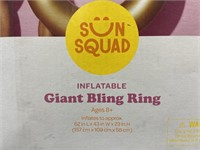 New sun squad inflatable giant bling ring