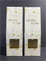 New lot of 2 crystal flora fragrance reed diffuser