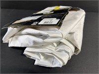 Lot of 2 white eclipse blackout curtains