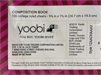 Lot of 3 new Yoobi composition notebooks