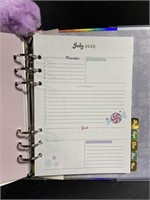 Lot of 2 new 2020 purple glitter planners