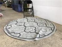 New Safavieh indoor/outdoor round gray rug, 5 ft
