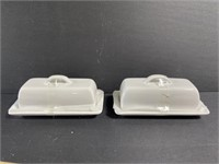 Lot of 6 new earthenware butter dishes