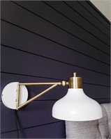 New Threshold white & brass wall sconce