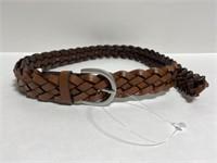 New women's brown braided fashion belt