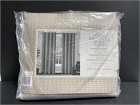 New set of 2 grey/silver blackout curtain panels