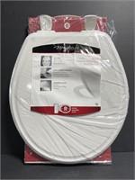 New Mayfair enameled wood toilet seat