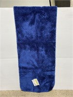 New large garland navy blue bath rug