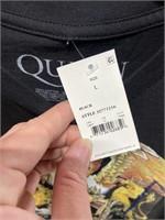 NWT Queen men's black athletic fit T-shirt