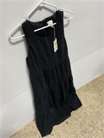New women's black boho cotton sundress