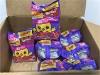 Box of Starburst & Skittles single serve candy
