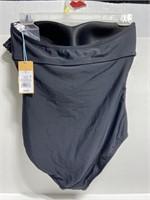 NWT women's strapless flounce swimsuit